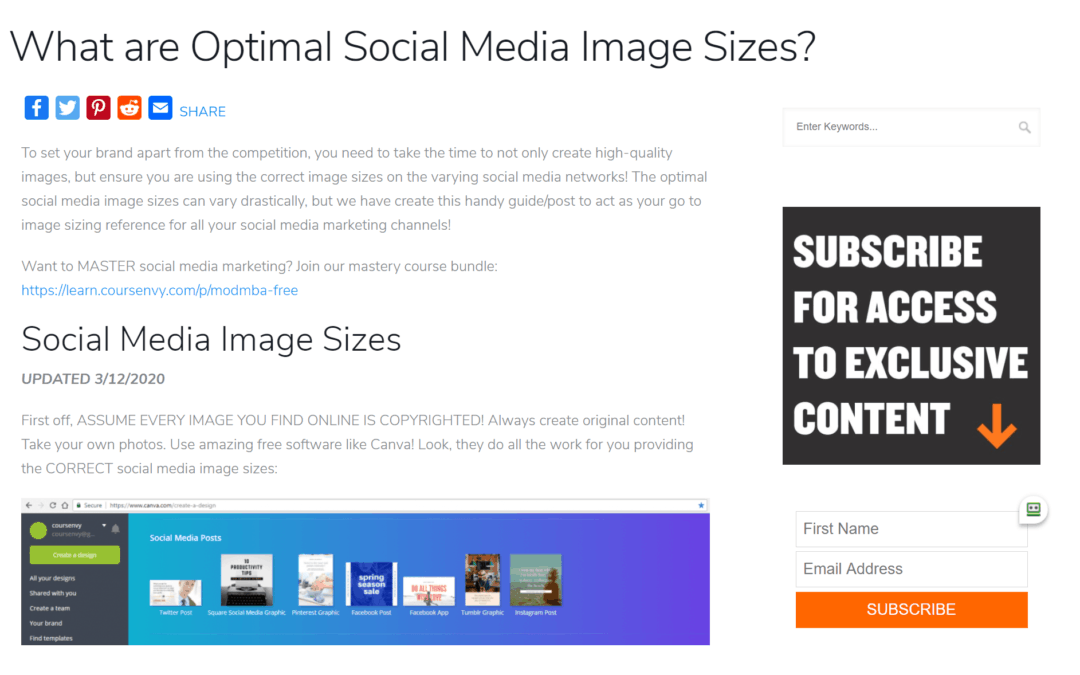 What are Optimal Social Media Image Sizes?